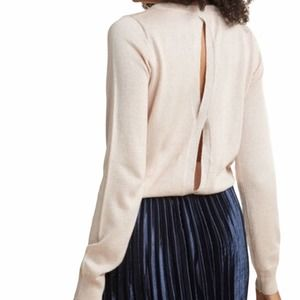 ModCloth light pink sweater with cutout back